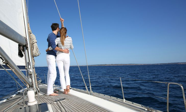 sailing trip couple