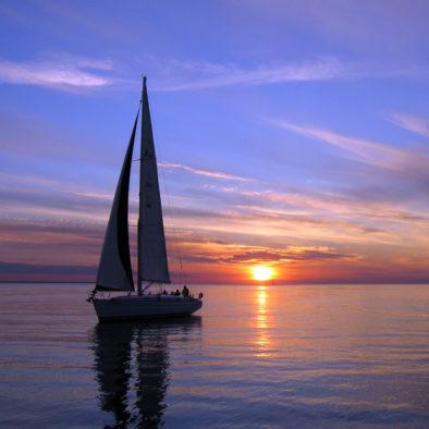 sailing trip sunset crete