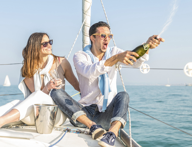 luxury sailing trip birthday